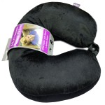 VIAGGI Microbead U Shape Travel Neck Pillow with Fleece - Black
