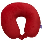 VIAGGI Microbead U Shape Travel Neck Pillow With Fleece - Red