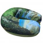VIAGGI Printed U Shape Memory Foam Travel Neck Pillow - Green Forest