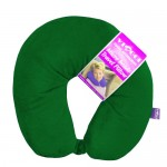 VIAGGI Microbead Travel Neck Pillow With Fleece - Hunter Green