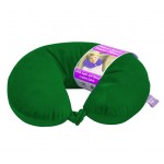 VIAGGI Microbead U Shape Travel Neck Pillow With Fleece - Hunter Green