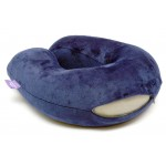 VIAGGI U Shape Memory Foam Travel Neck Pillow - Navy Blue