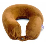 VIAGGI U Shape Memory Foam Travel Neck Pillow - Brown