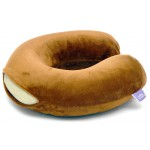 VIAGGI U SHAPED MEMORY FOAM NECK PILLOW-BROWN
