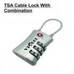 VIAGGI 3 Dial Travel Sentry Approved Security Luggage Resettable Combination Cable Padlock - Silver