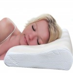 VIAGGI Contour Cervical Orthopedic Memory Foam Travel Pillow for Sleeping, Cervical Orthopedic Spine Care Pillow Spondylitis Neck and Back Pain Support