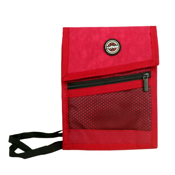 VIAGGI Unisex Travel Neck Pouch - Red