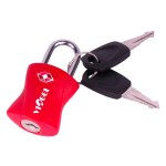 VIAGGI Travel Sentry Approved Metal Security Luggage Padlock with Key- Red
