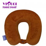 VIAGGI Brown U Shaped Memory Foam Travel Neck and Neck Pain Relief Comfortable Super Soft Orthopedic Cervical Pillows