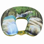 VIAGGI Green Forest 3D Print U Shaped Memory Foam Travel Neck and Neck Pain Relief Comfortable Super Soft Orthopedic Cervical Pillows