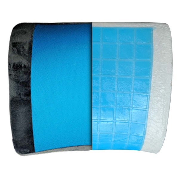 VIAGGI Lumbar Support Memory Foam Pillow with Cooling Gel