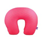VIAGGI Microbead U Shape Travel Neck Pillow - Minidot Pink