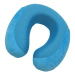 VIAGGI Cooling Gel Memory Foam Travel Neck Pillow - Turquoise Blue