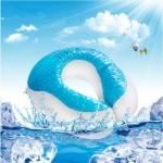 VIAGGI Cooling Gel Memory Foam Travel Neck Pillow - Egg Plant