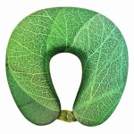 VIAGGI Green Leaf 3D Print U Shaped Memory Foam Travel Neck and Neck Pain Relief Comfortable Super Soft Orthopedic Cervical Pillows