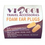 VIAGGI Orange Foam Ear Plugs Noise Reduction for Sleeping, Meditation, Study Adult and Child - 2 Pairs