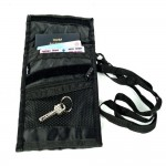 VIAGGI Unisex Travel Neck Pouch - Black